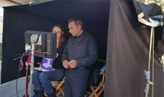 Allison's Choice, on the set, with Bruce Marchiano.