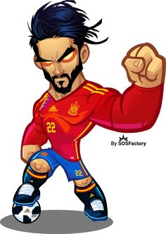 | Worldcup Russia 2018 Mascotization: Messi, Cristiano, Neymar, Salah, Isco... Soccer Art, Football Art, Football Players, Ronaldo Football, Football Player Drawing, Isco Alarcon, Team Wallpaper, Messi Soccer, Real Madrid Players