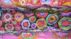 making a scarf with water soluble fabric taught by Marilyn Pipe in her creative textiles dvd.