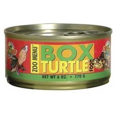 Canned Box Turtle food.