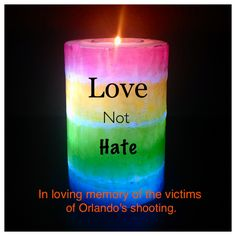 Love and support for the tragic Orlando Shooting. #LoveNotHate