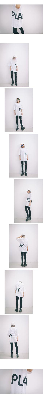 PLAY Boxy T (t1282) - 韓国ファッション通販【 GIRLS RULE ガールズルール】