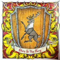 #gameofthrones #gameofthronescoloringbook House Baratheon #ouristhefury