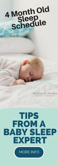 4 Month Old Sleep Schedule - Expert Tips on how to do it, what you should expect and more. #sleepschedule #baby #babylove via @rookiemoms