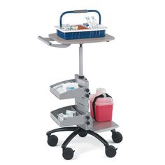 Favorite choice of phlebotomists! Point-of-Care Phlebotomy Cart is a comfortable sit/stand cart that goes wherever you go. See it now at PilgrimMedical.com