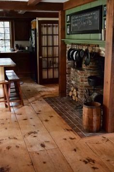 farmhouse flooring 3 secrets old farmhouse owners might never tell you SoulyRested Rustic Wood Floors, Wood Plank Flooring, Farmhouse Flooring, Hardwood Floors, Wood Wood, Laminate Flooring, Old Wood Floors, Flooring Store, Farmhouse Furniture