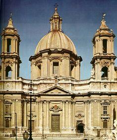 Freancesco Borromini en Carlo Rainaldi St Agnese piazza Navona Rome