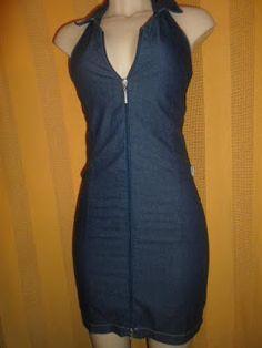 Brecho Online - Belas Roupas: Vestido Jeans T.N.T