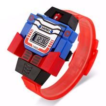 This is a fun watch where the front comes off and turns in to a transformer like figure.