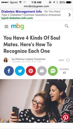 Soul mate relationships can change your life but knowing what kind of soul mate you are encountering can shape the relationship. Read my article about the 4 kinds of soul mates in my MindBodyGreen article.