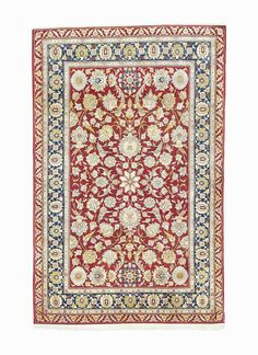 Hereke - A SILK AND METAL-THREAD  RUG, SIGNED 'HEREKE', WEST ANATOLIA, CIRCA 1930, Overall excellent condition,  6ft.10in. x 4ft.10in. (208cm. x 146cm.)
