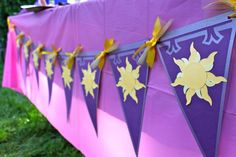 Tangled Sun Birthday Banner