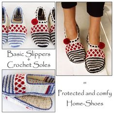 E-Book Pack for Stripe and Dot Slippers + Tailored Crochet Sole Pattern/ Sole-Treatment - patterns : Ravelry: E-Book Pack for Stripe and Dot Slippers + Tailored Crochet Sole Pattern/ Sole-Treatment - patterns Crochet Sole, Crochet Slipper Pattern, Crochet Boots, Crochet Gloves, Crochet Slippers, Bead Crochet, Kids Headbands, Shoes Too Big, Slipper Socks