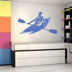 O autocolante do desporto de canoagem e incrível para aplicar nas paredes da sua casa. Pode ainda, personalizar o vinil com a cor e a medida que melhor se adaptar ao local onde o vai aplicar. Home Decor Decals, Decor, Home Decor