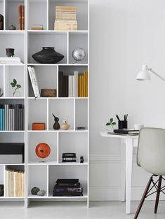 New Contemporary White Bookcase