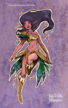 Disney Princesses transformed into World of Warcraft characters - Pocahontas