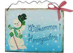 Weihnachtsdeko - Türschild Winter Weihnachten - ein Designerstück von Un-Art-Tick bei DaWanda