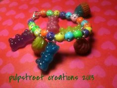 The Sweetshop Gummy Bear and Cupcake Resin by PulpStreetCreations, $15.50