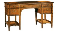 Leather Top Wood Leg Desk Special Reserve By Hekman Furniture   1 800 460