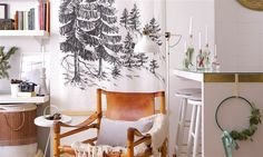 If you think you can't fit Christmas decorations into your small space—we're here to show you that you absolutely can. To prove it, we transformed designer Akhira Ismail's 288-square-foot Brooklyn apartment into a Scandinavian-inspired winter wonderland using ten design tricks for small spaces. Yes, you can have a merry little Christmas, even in the tiniest of apartments.
