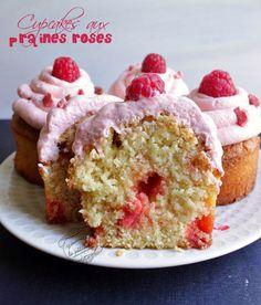 cupcakes framboise pralines rose et chantilly