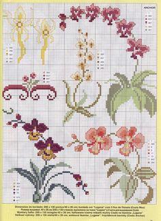 Схемы вышивки крестом цветов