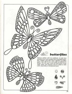 butterfly pattern for quilliing: