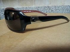 COSTA DEL MAR Isabela Black Coral Frames Gray Polarized Lenses iB32