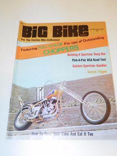 """VTG """"BIG BIKE"""" (SEPT 1970) CHOPPER MOTORCYCLE MAGAZINE: CUSTOM BIKE HOG CYCLE"""