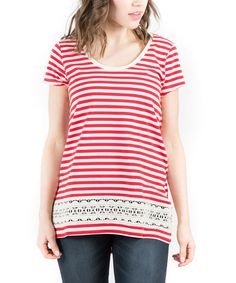 Loving this Red Stripe West Coast Top on #zulily! #zulilyfinds