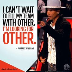 Pharrell is so awesome