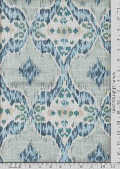 Items similar to Blue, Green, Grey and Ivory Ikat Curtain Panels / Custom Drapery in Designer Fabric on Etsy Ikat Curtains, Ikat Fabric, Drapery Fabric, Panel Curtains, Curtain Panels, Coastal Fabric, Chair Fabric, Fabric Decor, Blue And Green Curtains