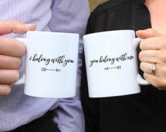 I belong with you, You belong with me mugs