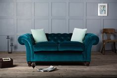 Velvet Chesterfield Sofas Add Style to Your Home #ChesterfieldSofas #BritishSofas #Sofas