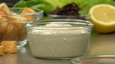 This blended dressing uses nuts to create a heart-healthy, no-oil take on a classic dressing.
