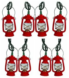 This Mini Lantern Novelty Light Set is the perfect gift for any avid outdoorsman, collector or that special someone. This is a 10 ft/10 piece light set which is weather resistant and perfect for both