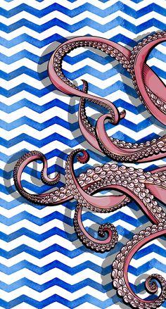Octopus Design Background