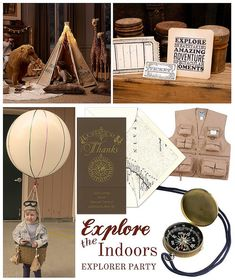 Little Explorer Party (Explore the Indoors during winter months) by Finestationery.com