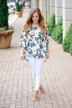 The Dainty Darling: Floral Off The Shoulder