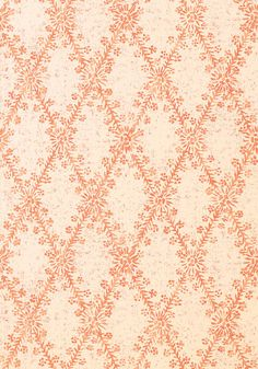 La Gioconda #wallpaper in #coral from the Artisan collection. #Thibaut