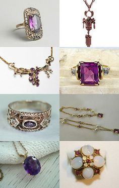 Amethyst … February Birthstone You Lucky Girl! by Elaine on Etsy--Pinned with TreasuryPin.com