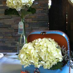 Bridal shower arrangement for travel themed shower!