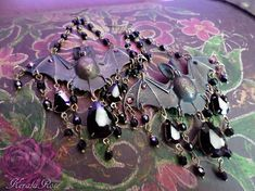 Hey, I found this really awesome Etsy listing at https://www.etsy.com/listing/458440852/black-glass-beaded-flying-bats