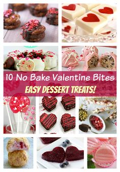 Here's 10 of the best no bake Valentine desserts that you can make! Get ready to create some tasty Valentine treats that look as wonderful as they taste!