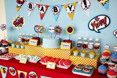 "Photo 17 of 20: Superheros / Baby Shower/Sip & See ""Super Hero Baby Shower"" 