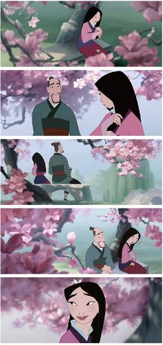 This will forever remind me of my dad.  His favorite part of Mulan
