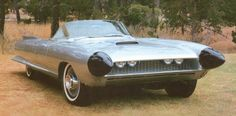 """1959 Cadillac Cyclone was the last """"dream car"""" created during Harley Earl's tenure as General Motors's vice president of design. Compact but flamboyant, the Cyclone marked the end of an era and capped a career that started with Earl's being brought to Detroit in 1926 to design the new LaSalle and resulted in the establishment of styling as a discipline as integral to the car business as engineering or sales."""