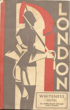 London - 1936 guide (Whiteness Hotel) - cover illustartion by John Farleigh book cover London Travel Guide, Old Poster, London Poster, Toddler Travel, Vintage Travel Posters, Vintage Ads, London Calling, British Isles, London England