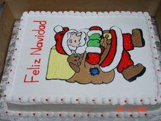 pastel navidad Santa Claus