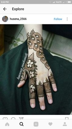Satnammehandiart in ganaur Indian Mehndi Designs, Modern Mehndi Designs, Mehndi Design Pictures, Beautiful Mehndi Design, Latest Mehndi Designs, Mehndi Images, Finger Henna Designs, Mehndi Designs For Fingers, Henna Tattoo Designs